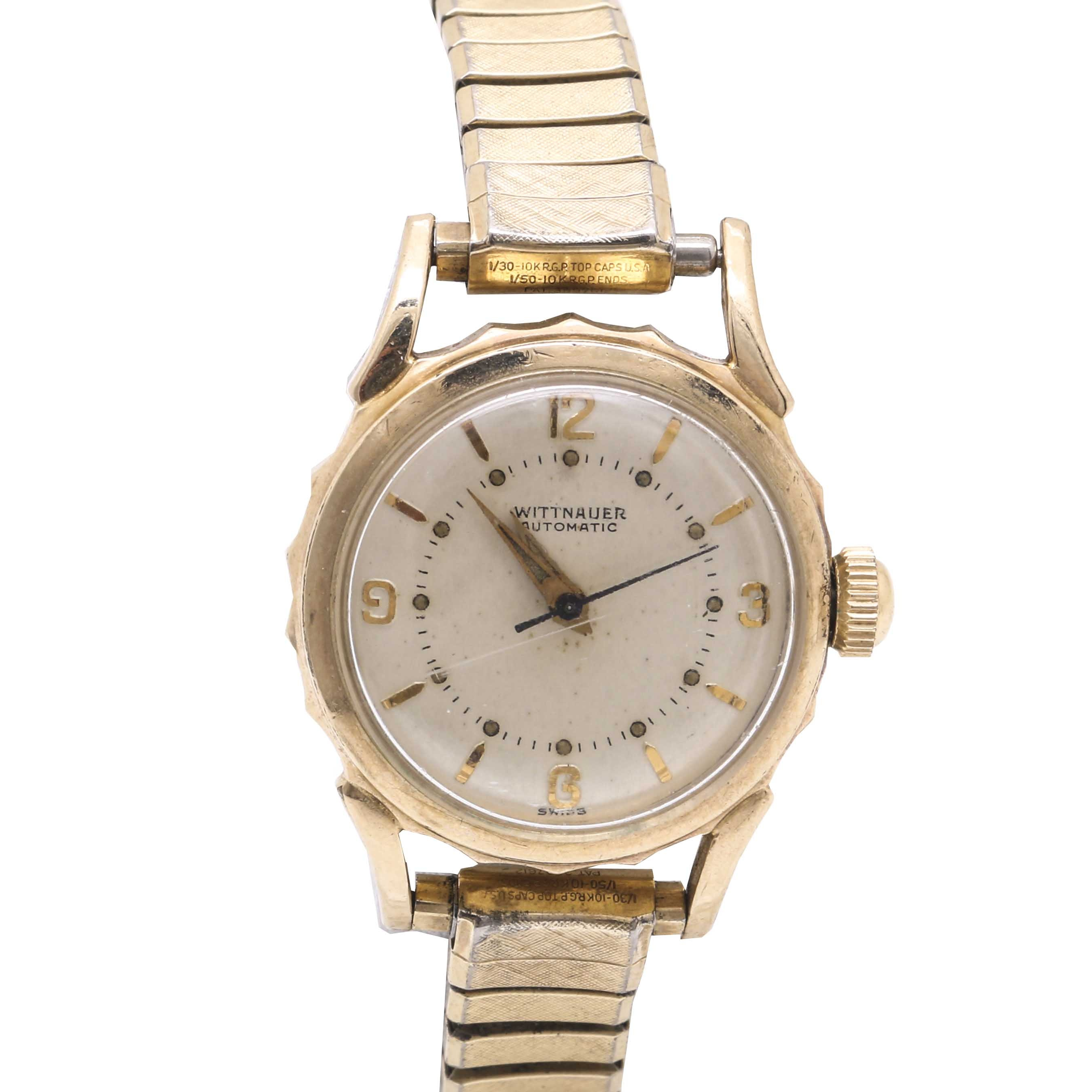Wittnauer Automatic 10K Gold Filled Expansion Wristwatch