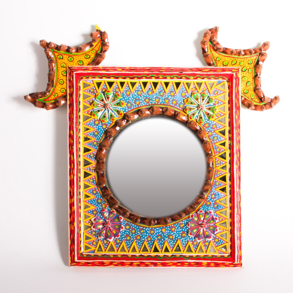 Hand-Painted Ornate Wall Mirror