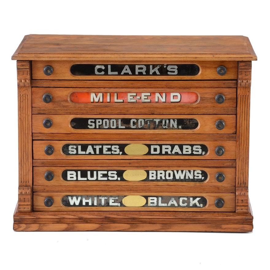 Antique General Store Spool Cabinet ... - Antique General Store Spool Cabinet : EBTH