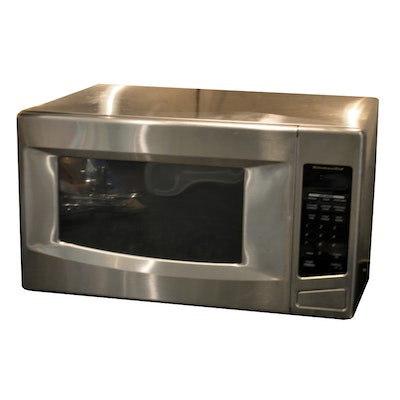 Stainless Steel Kitchen Aid Microwave