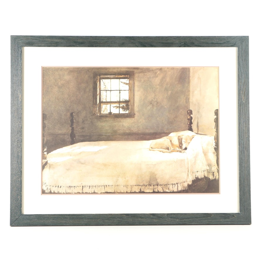 Offset Lithograph After Andrew Wyeth\'s Painting \