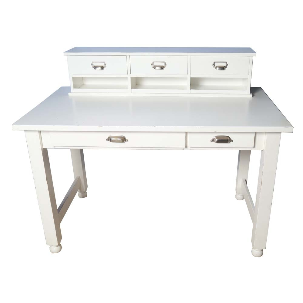 White Writing Desk with Hutch by Pottery Barn