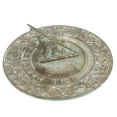 Round Brass Sundial