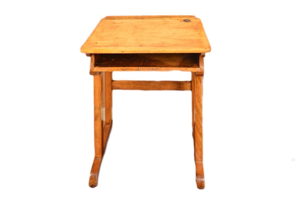 Vintage Maple School Desk