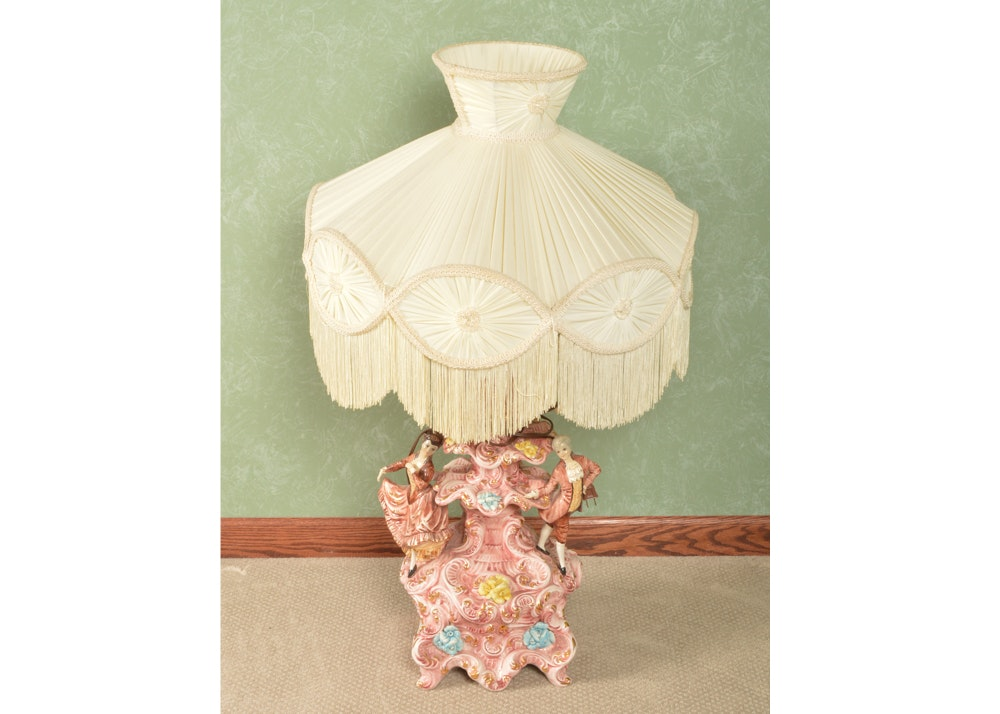 Rococo Style Porcelain Table Lamp