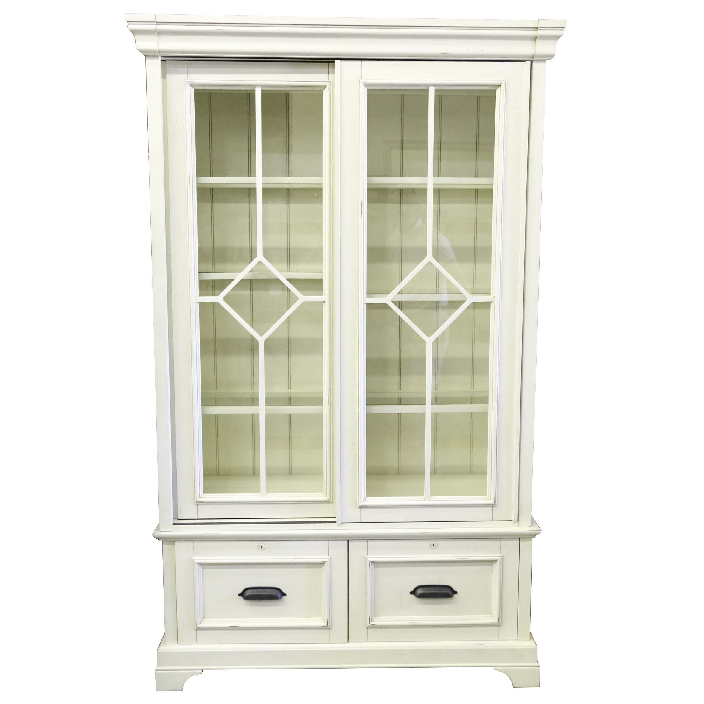 Cream Painted Bookcase and Display Cabinet by Aspen Home