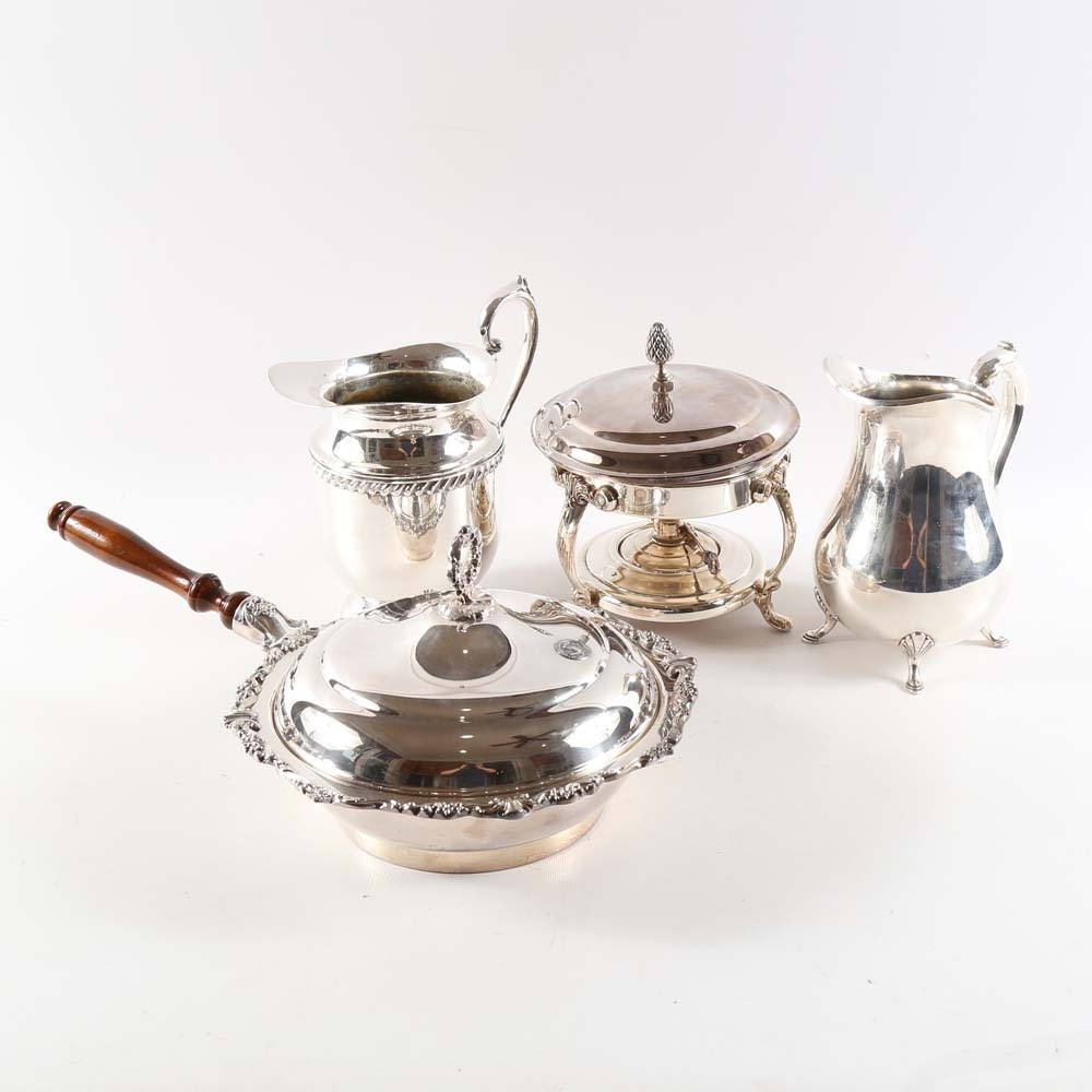 Collection of Silver Plated Tableware Including