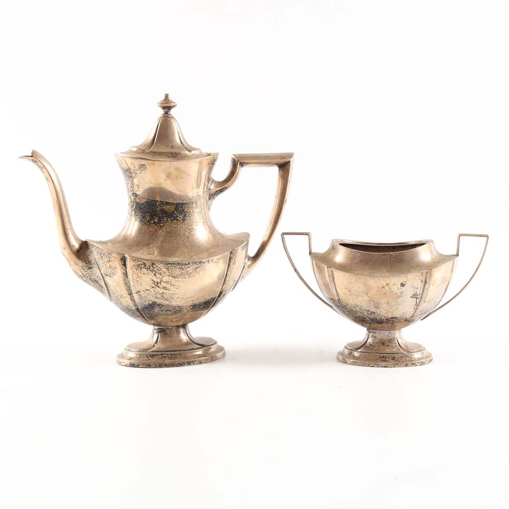 International Silver Co. Sterling Coffee Pot and Sugar Bowl