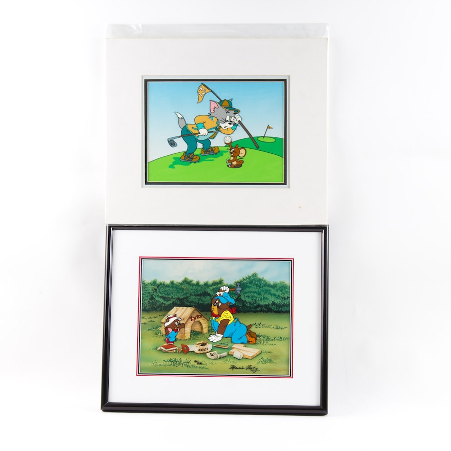 Tom and Jerry Themed Hand-Painted Animation Cels, One Signed by ...
