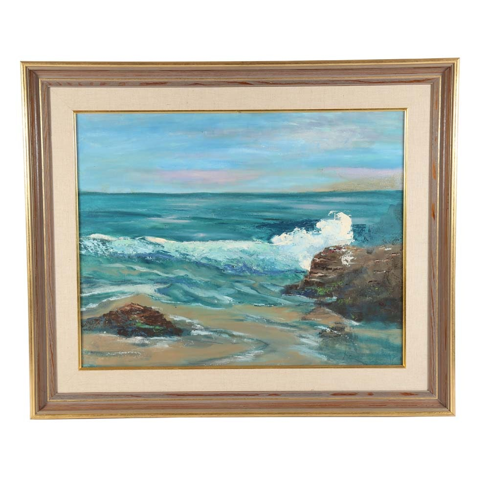 Original Acrylic Seascape Painting on Board