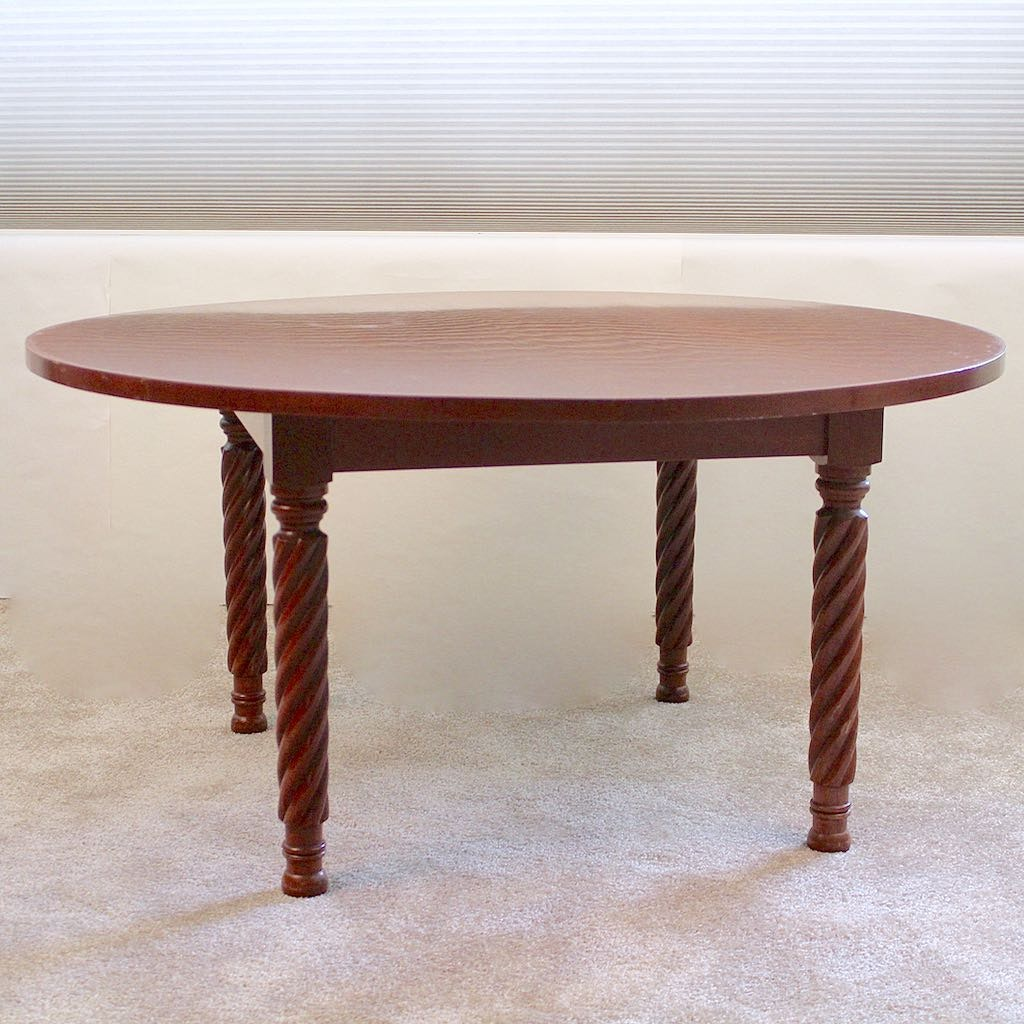 Sampler Cherry Furniture Custom Round Coffee Table With Rope Legs ...
