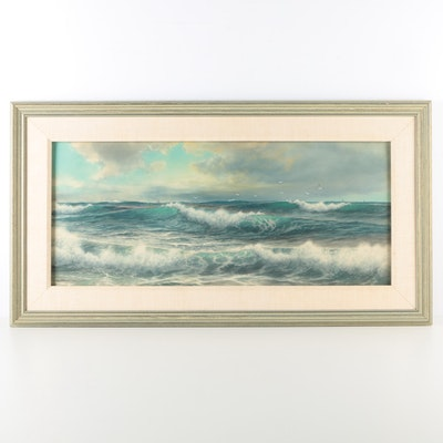 George Howell Gay Watercolor Seascape