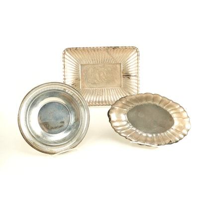Vintage Sterling Silver Trays Featuring Reed & Barton