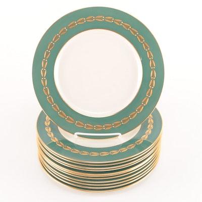 """Lenox """"Antoinette Green"""" China Dinner Plates"""