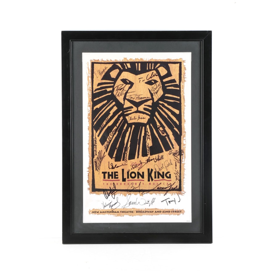 Cast Autographed Lion King Broadway Poster Ebth