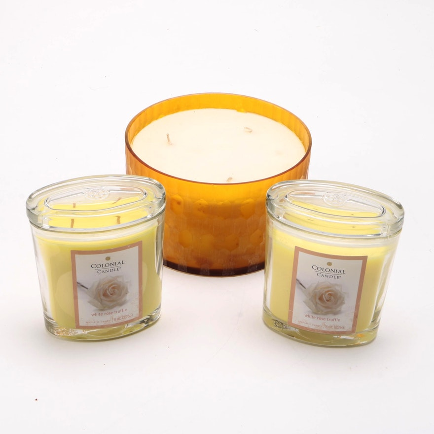 Collection Of Colonial And Pottery Barn Scented Candles