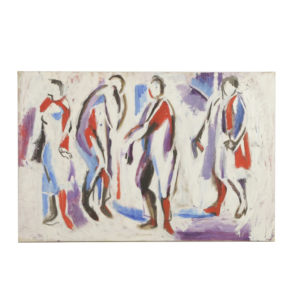 Phillip Callahan Oil Painting on Canvas Abstract Figures