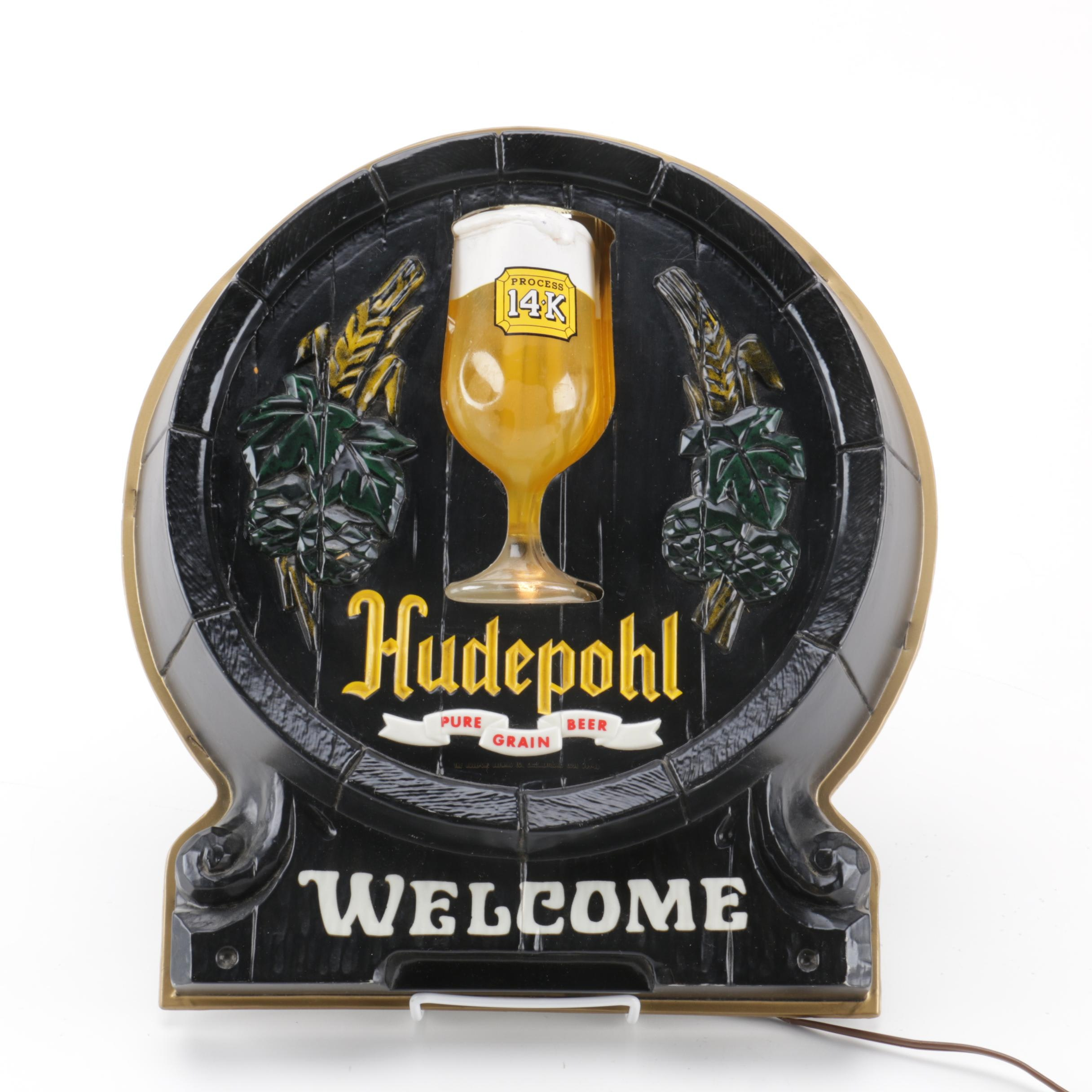 Hudepohl Beer Wall Light