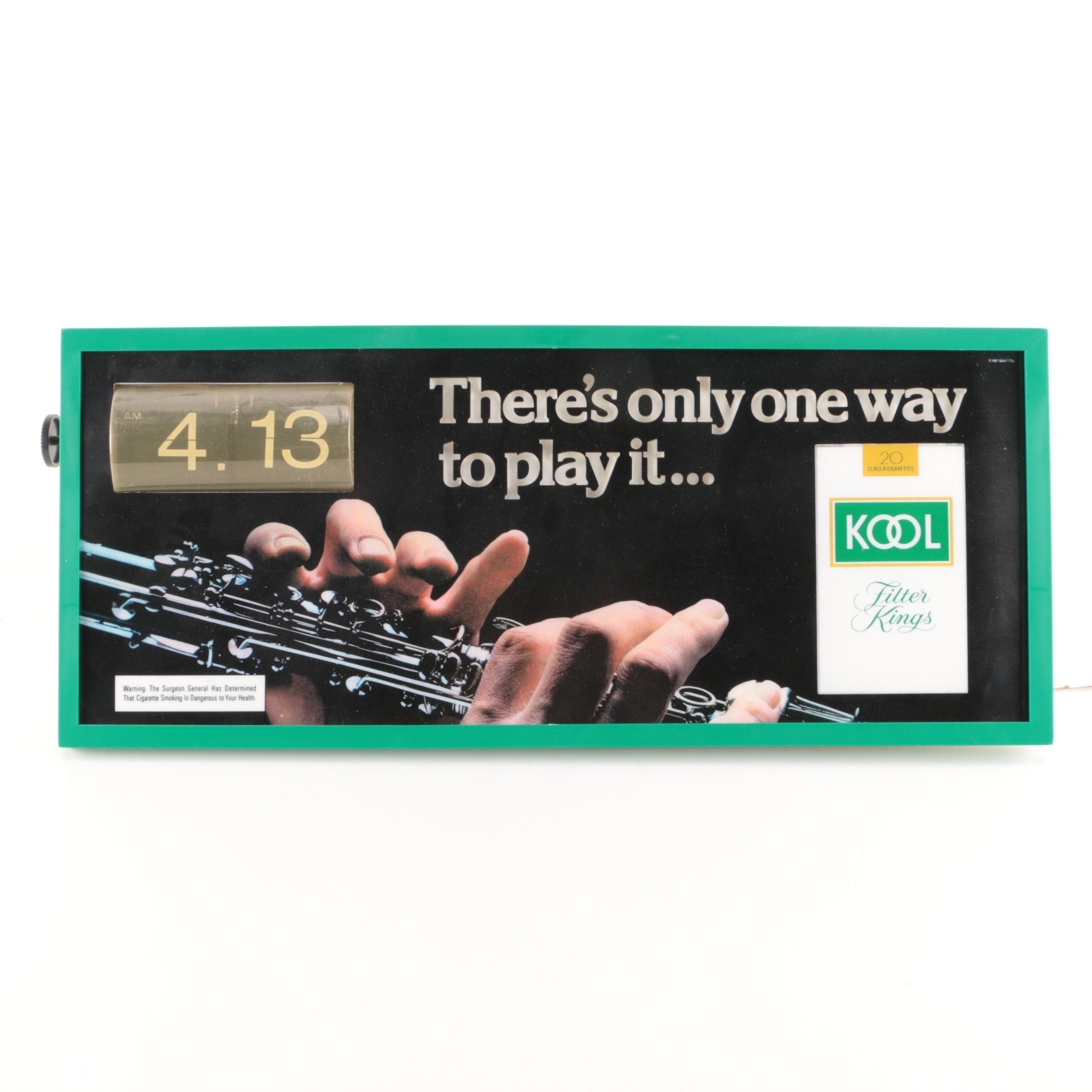 Kool Tobacco Advertisement Wall Calendar