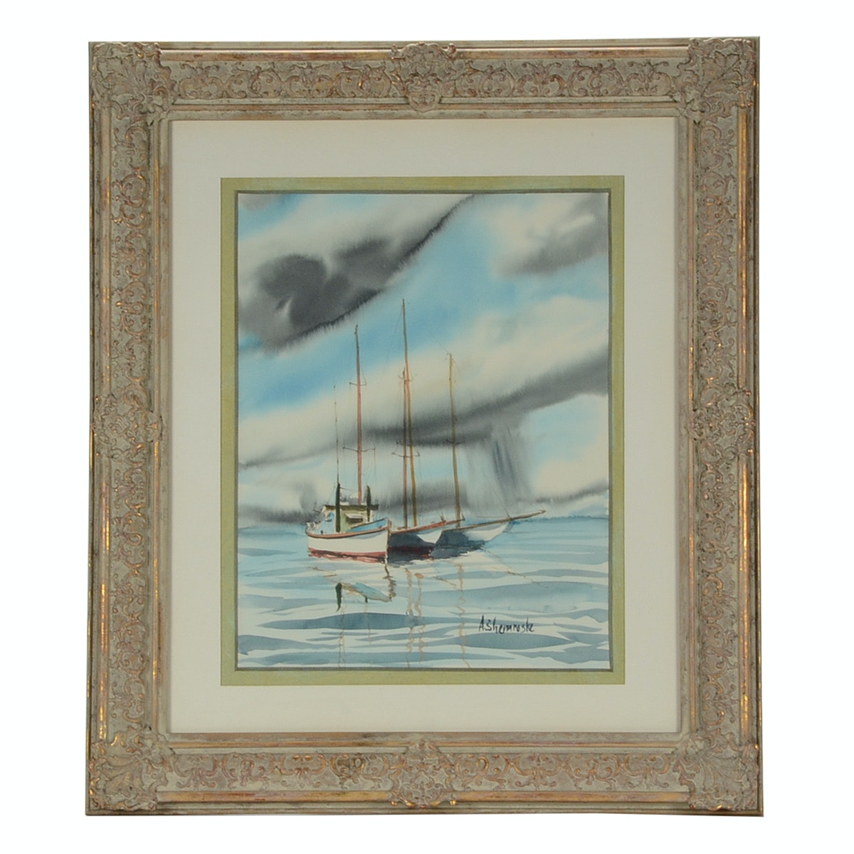 Anthony Shemroske Original Nautical Watercolor on Paper