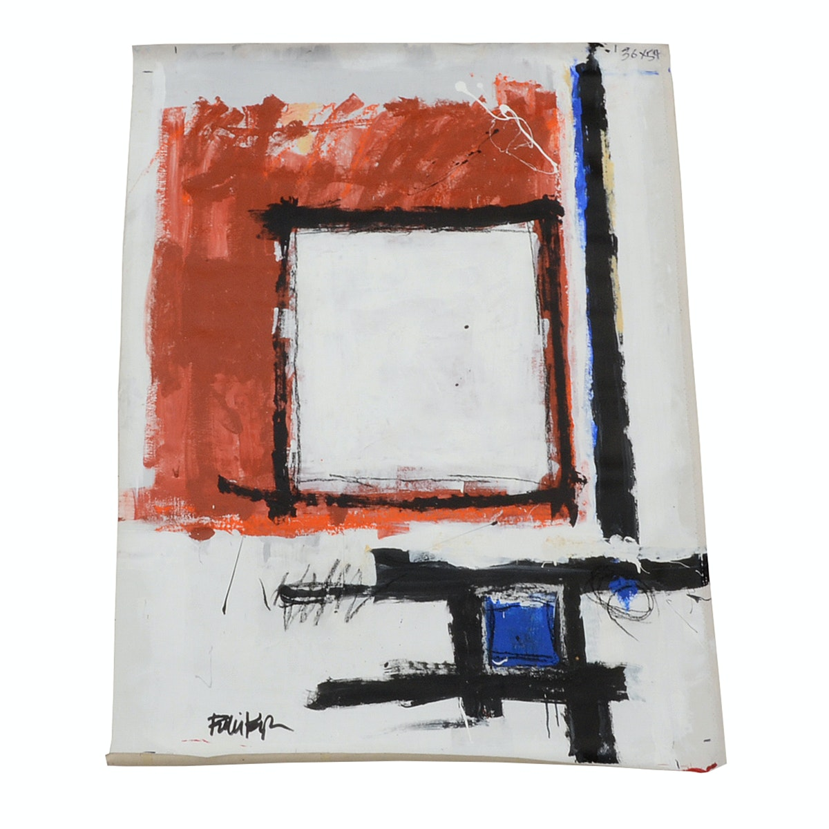 Robbie Kemper Original Mixed Media Painting on Unstretched Canvas