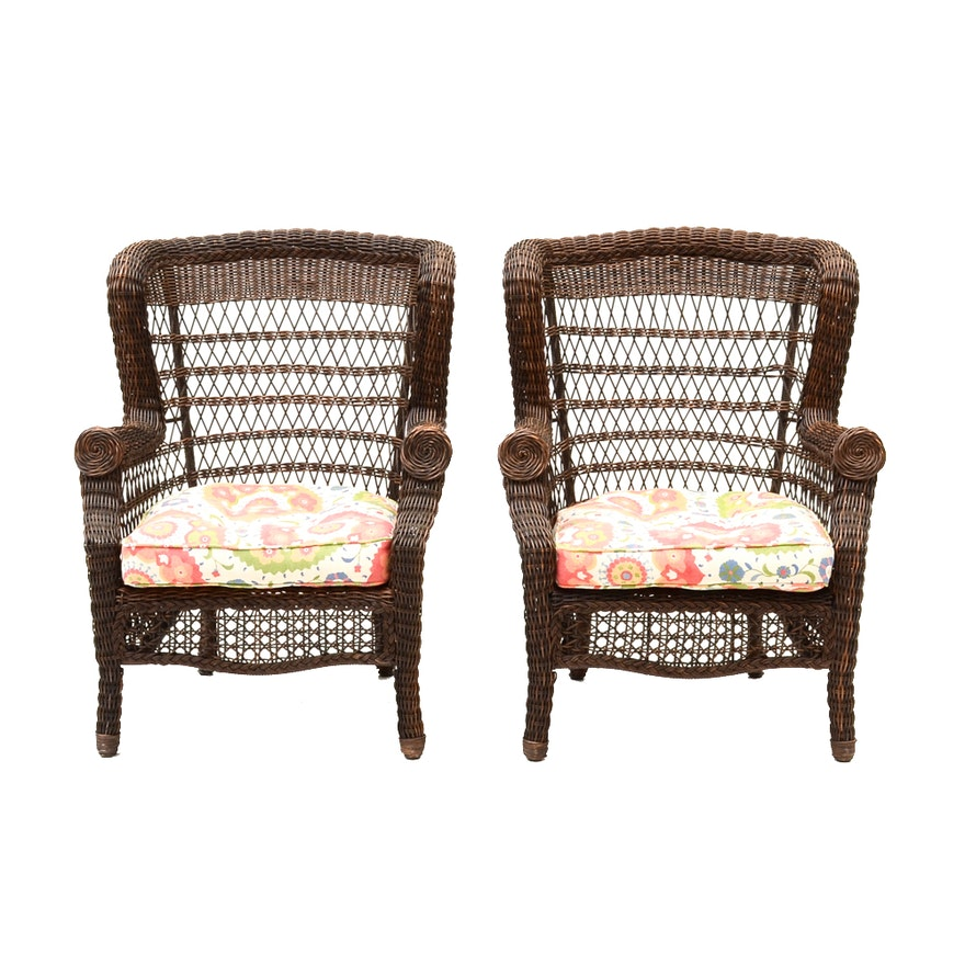 Pier 1 Imports Woven Patio Chairs Ebth