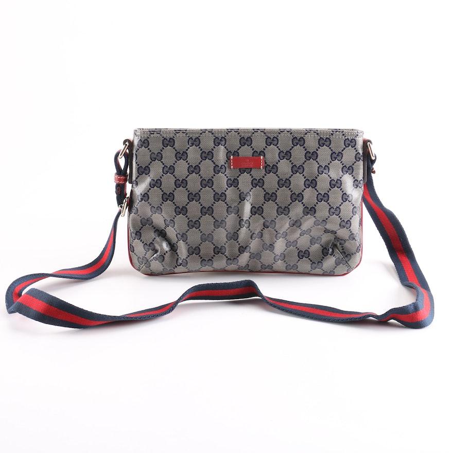 fa2e8b8e996 Gucci Crystal Monogram Small Messenger Bag
