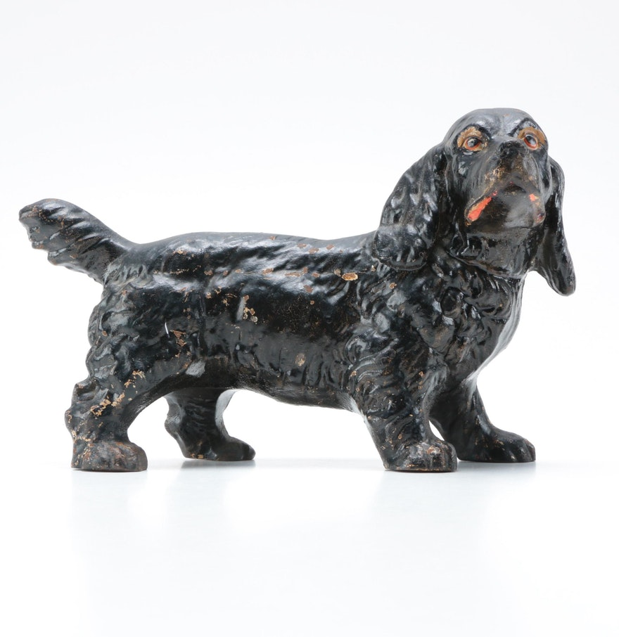 Cast iron cocker spaniel dog doorstop ebth - Cast iron dog doorstop ...