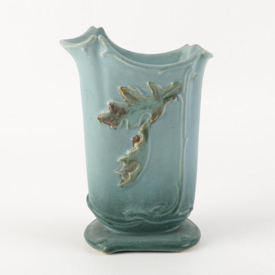 Vintage Weller Oak Leaf Vase Ebth