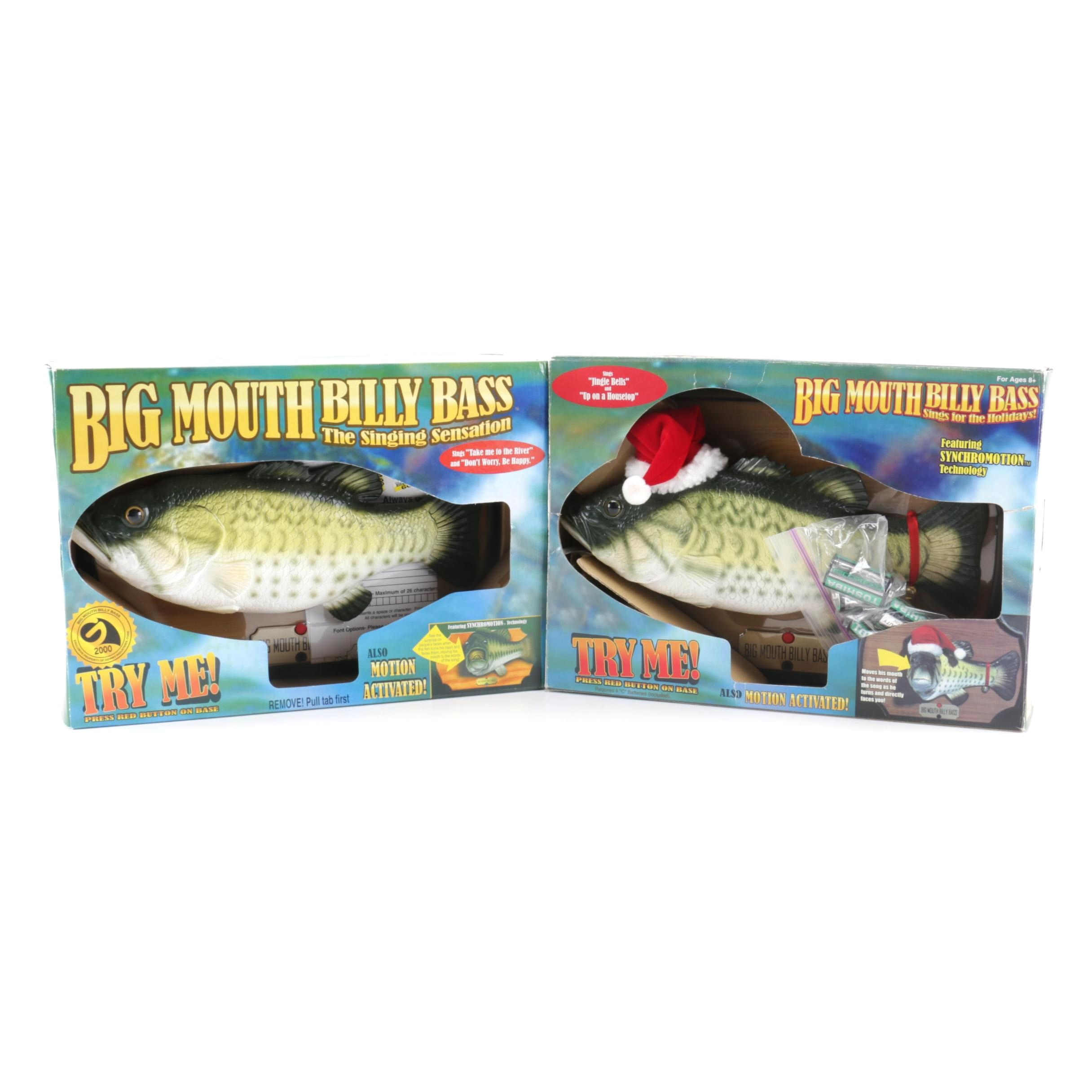 Big Mouth Billy Bass Singing Fish Plaque and Holiday Version