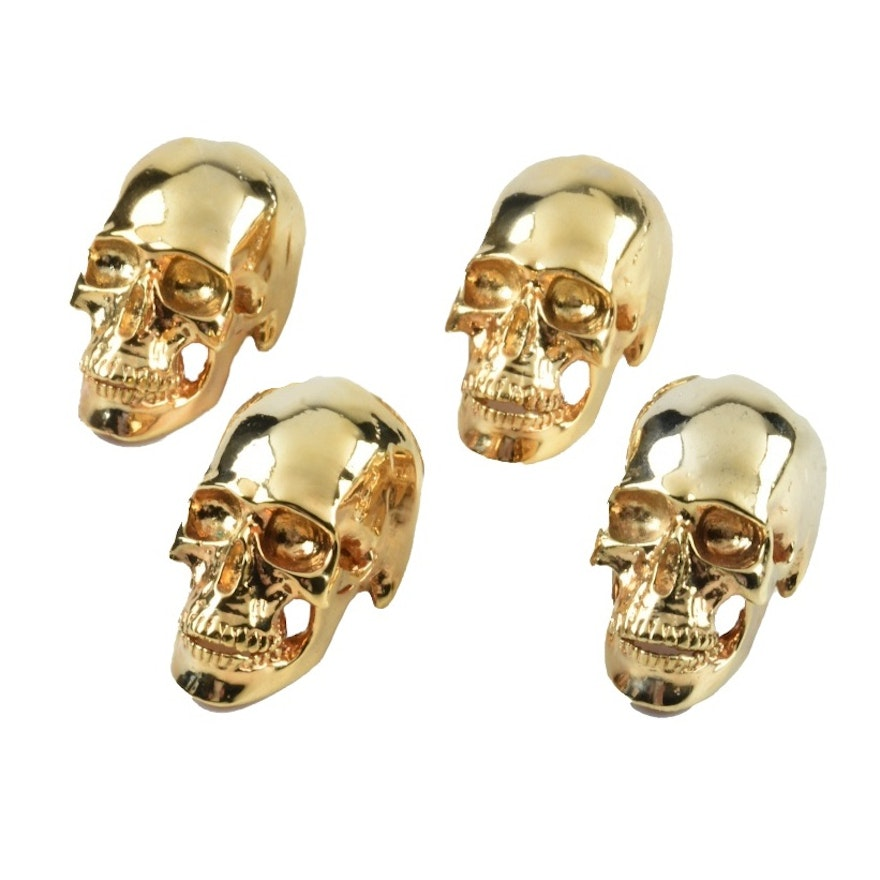 Two Pairs of Skull Place Card Holders by D.L. & Co.