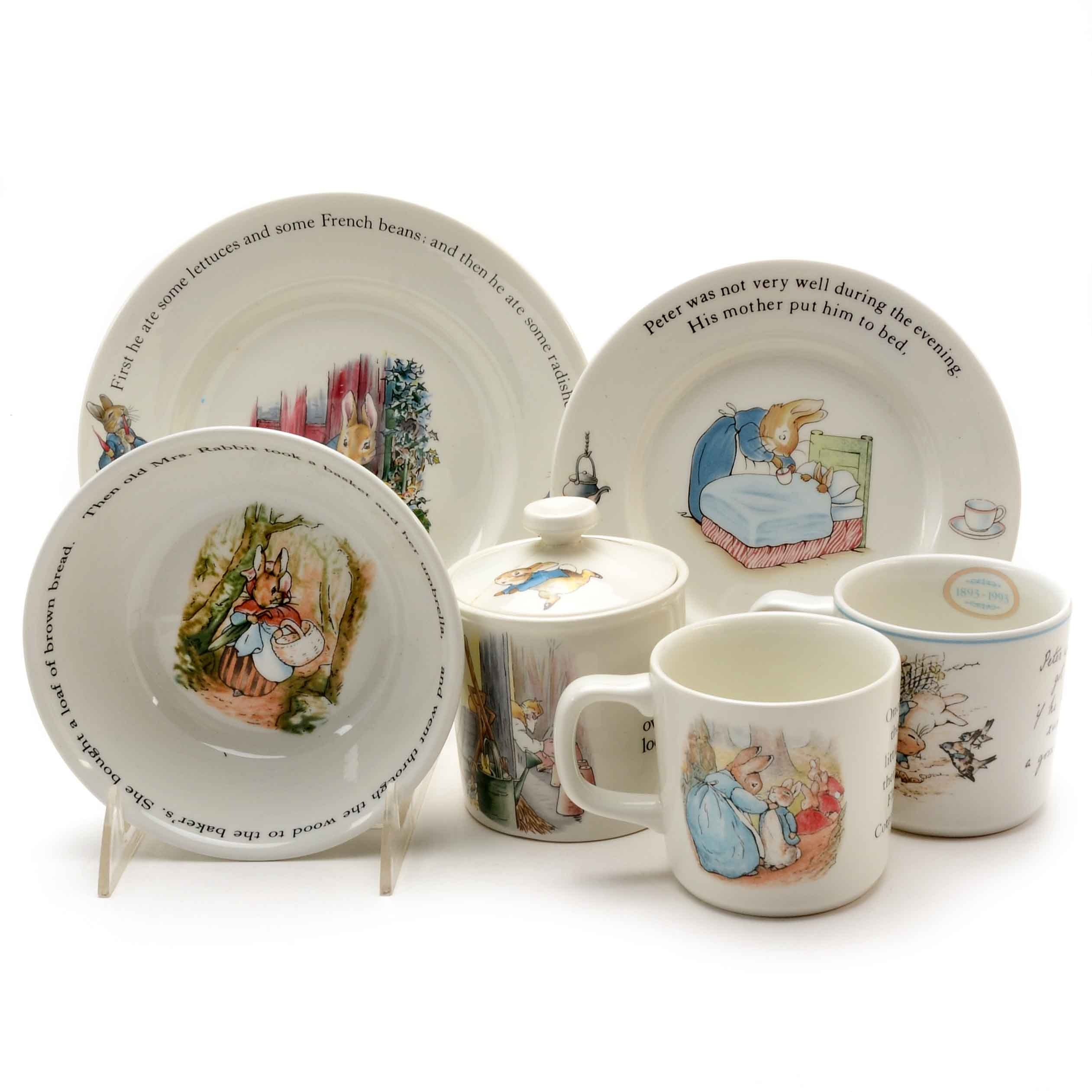 Collection of Beatrice Potter Peter Rabbit Dishes by Wedgwood ...  sc 1 st  EBTH.com & Collection of Beatrice Potter Peter Rabbit Dishes by Wedgwood : EBTH