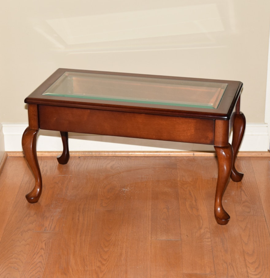 Mahogany And Glass Display Case Coffee Table Ebth