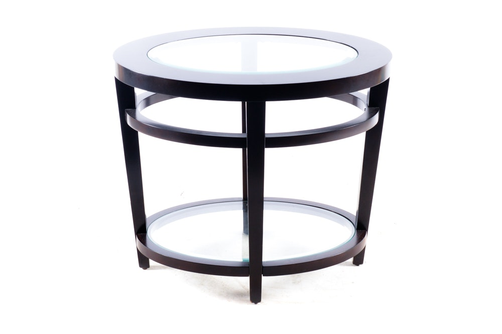 Contemporary Glass Top Side Table