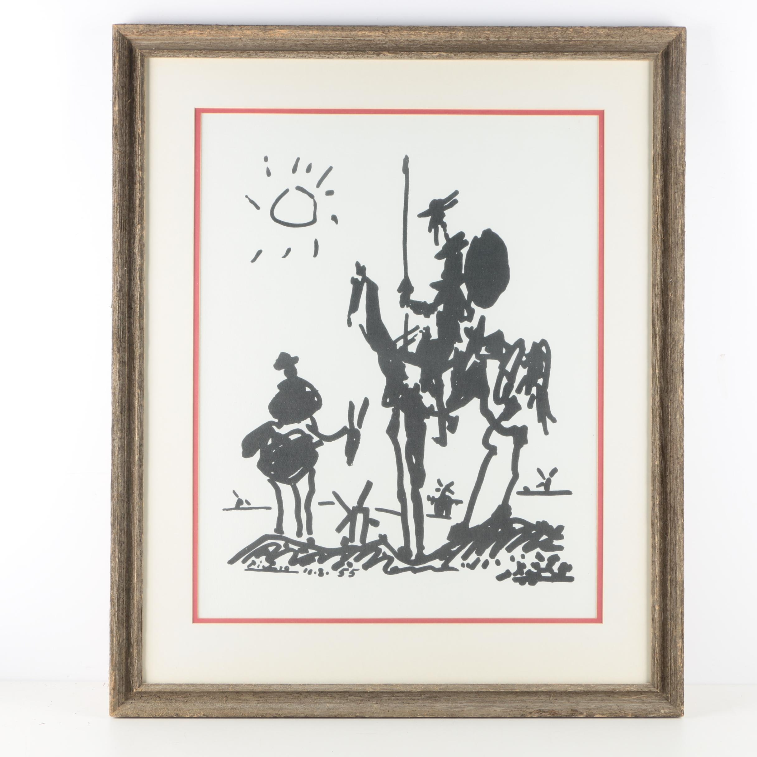 "Giclée on Canvas Board after Picasso ""Don Quixote"""