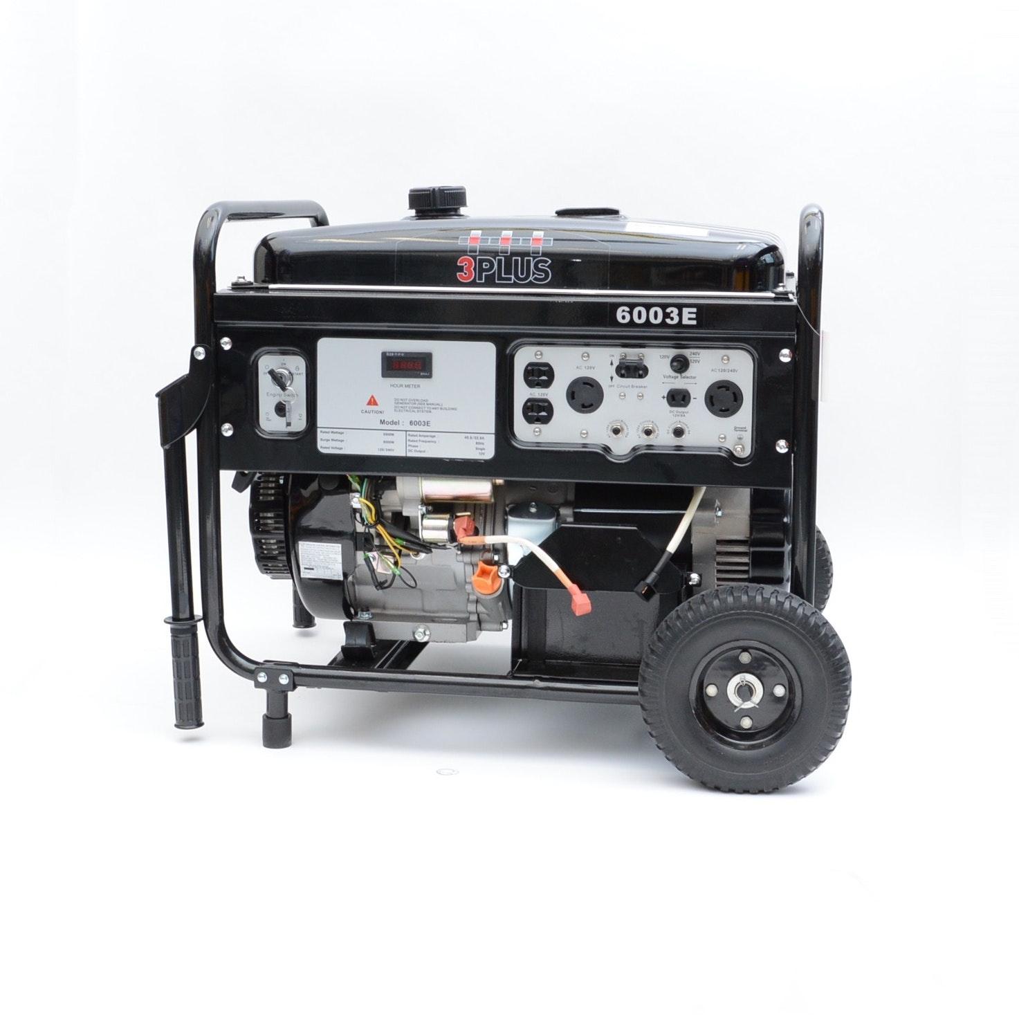 3 PLUS 6000 Watt Generator