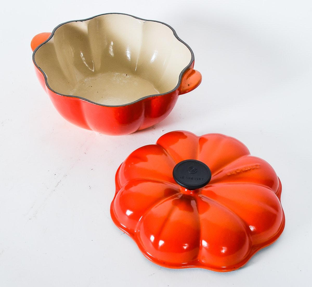 Rare Le Creuset Pumpkin Shaped Dutch Oven Ebth