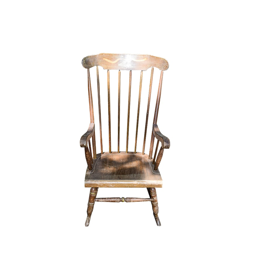 Superb Painted Vintage Rocking Chair Ocoug Best Dining Table And Chair Ideas Images Ocougorg