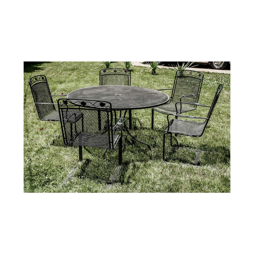Metalwork Patio Table and Chairs