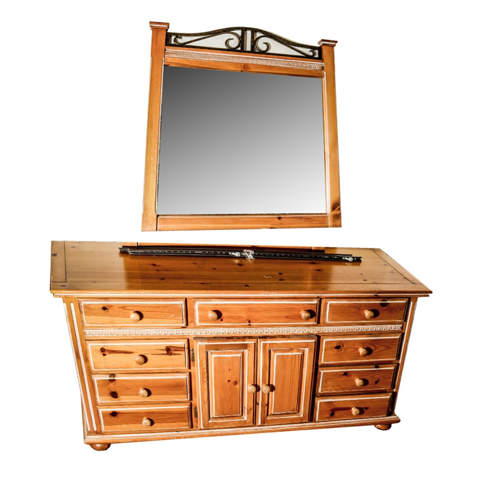 Chest of Drawers with Mirror and Matching Nightstand