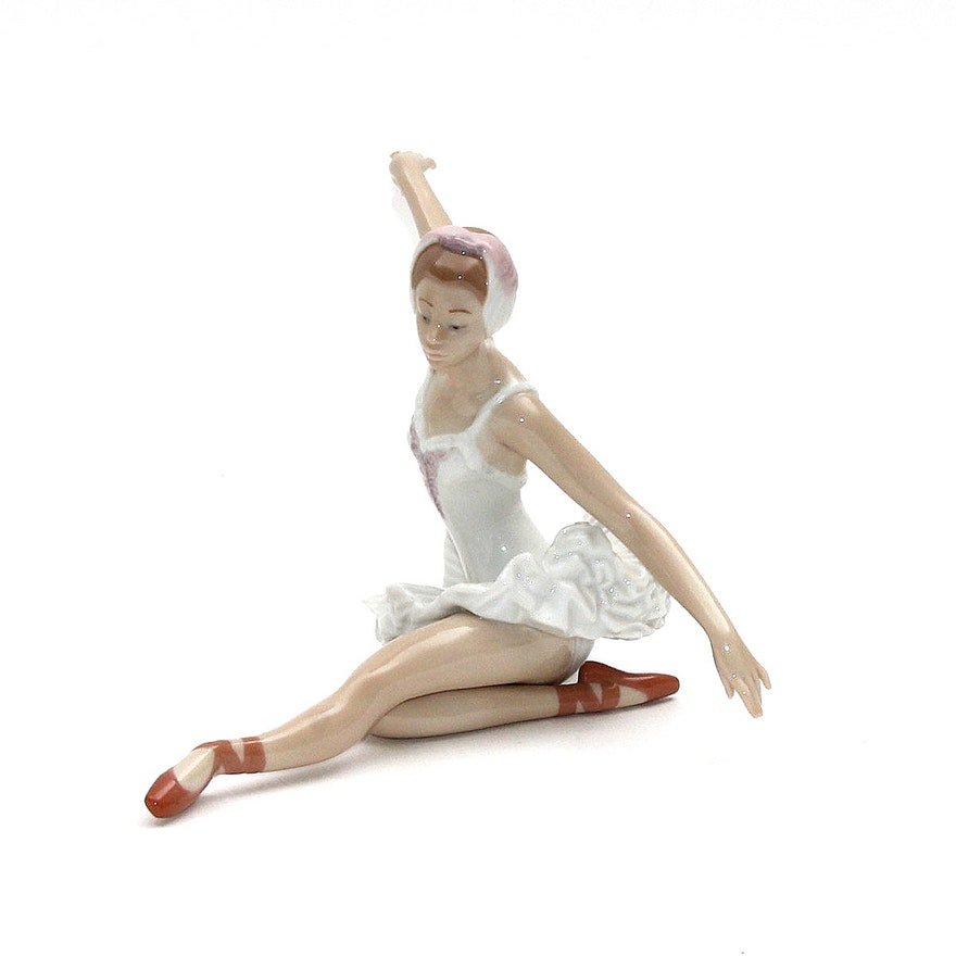 Lladro swan ballet figurine ebth - Consider including lladro porcelain figurines home decoration ...