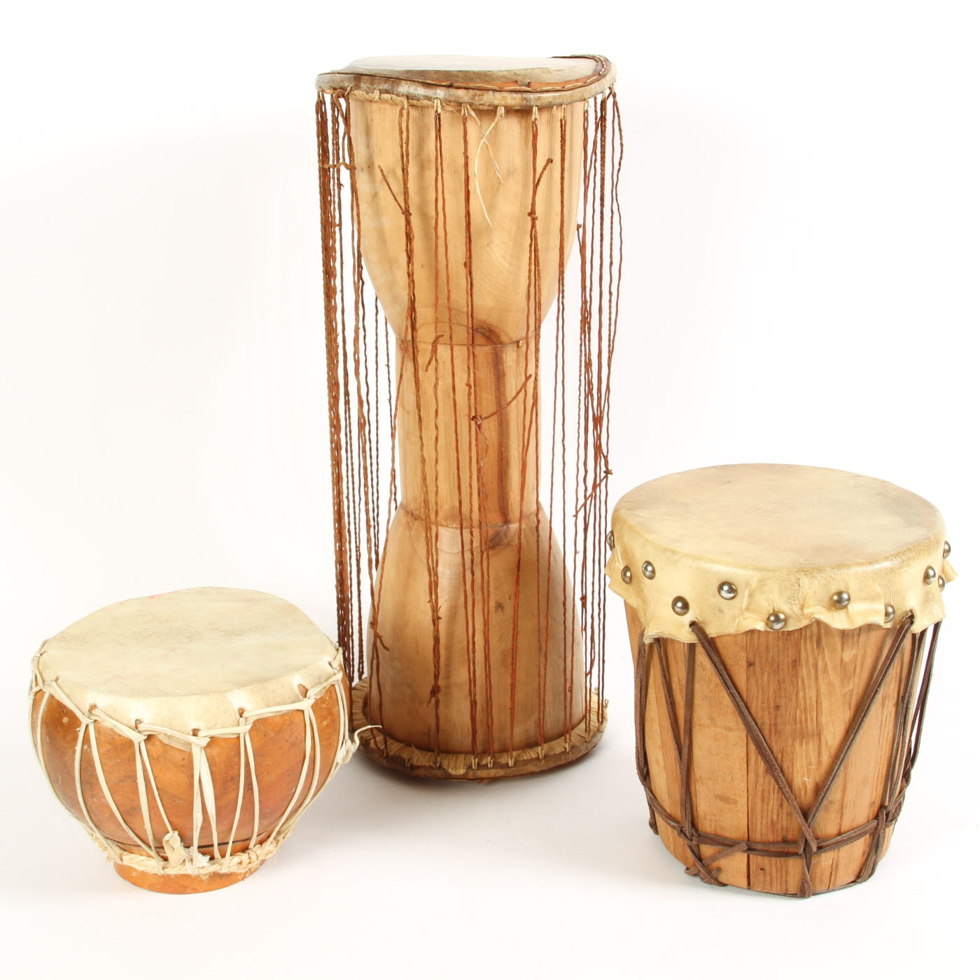 African Style Talking Drum and Hand Drums
