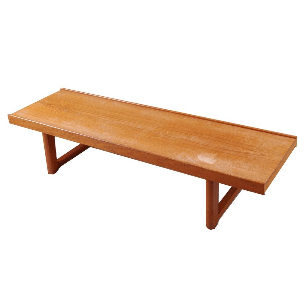 Danish Modern Wooden Bench by MellemStrands
