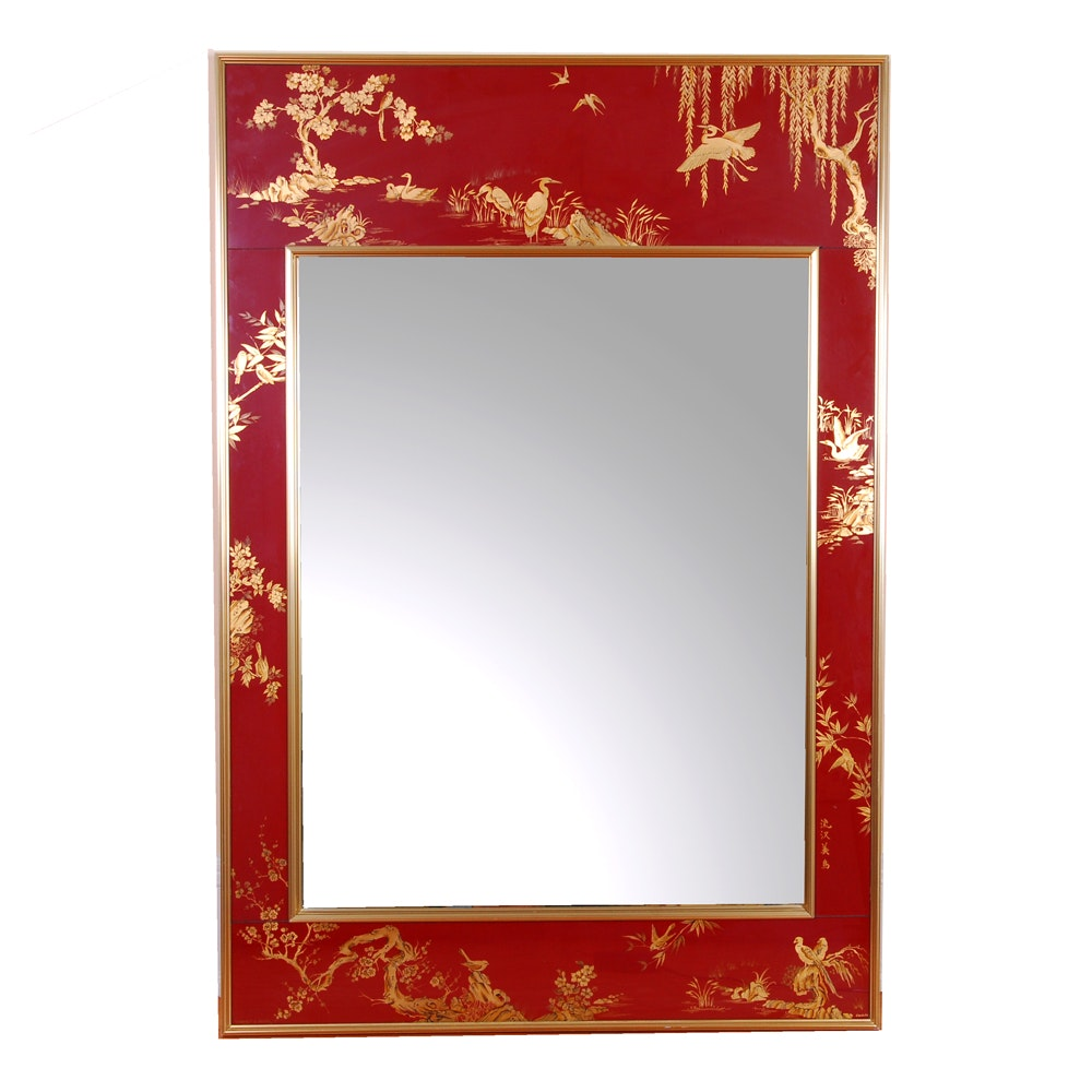 LaBarge Chinoiserie Wall Mirror