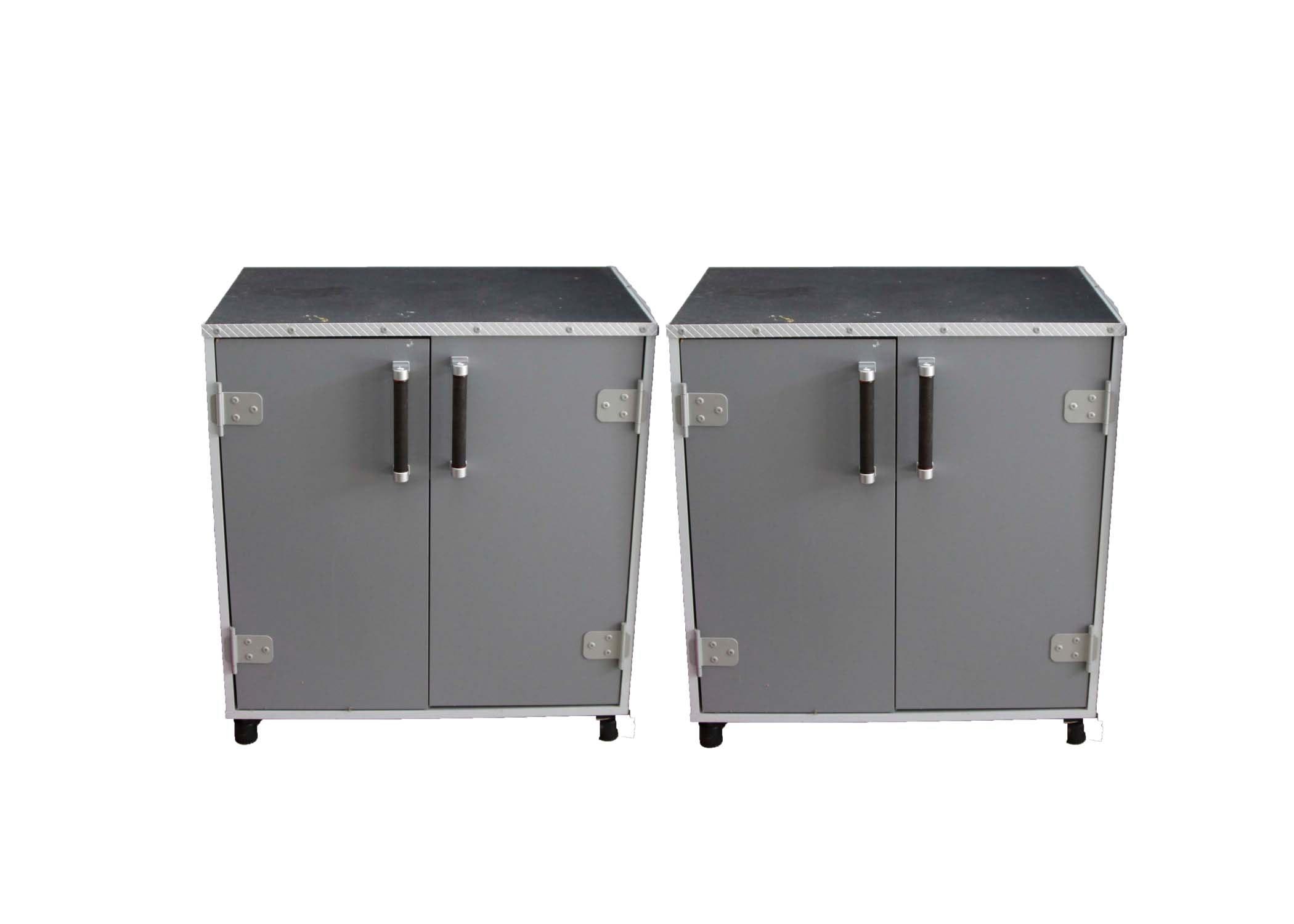 A Pair of Sauder Short Storage Cabinets