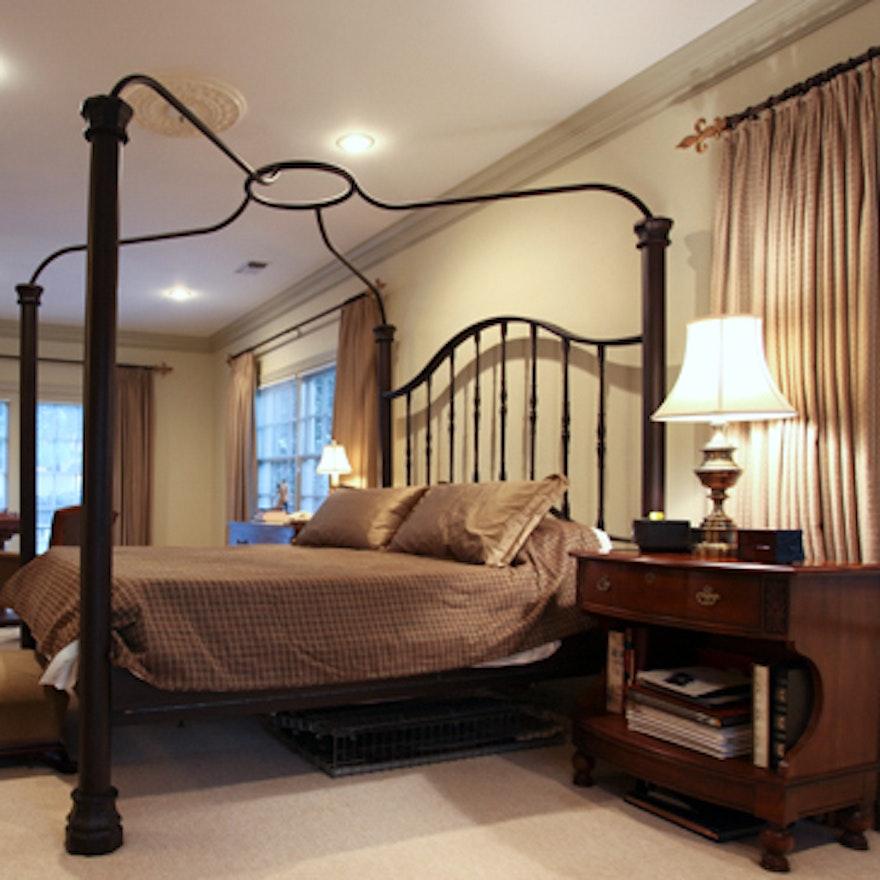 Cast Iron California King Canopy Bed Frame : EBTH