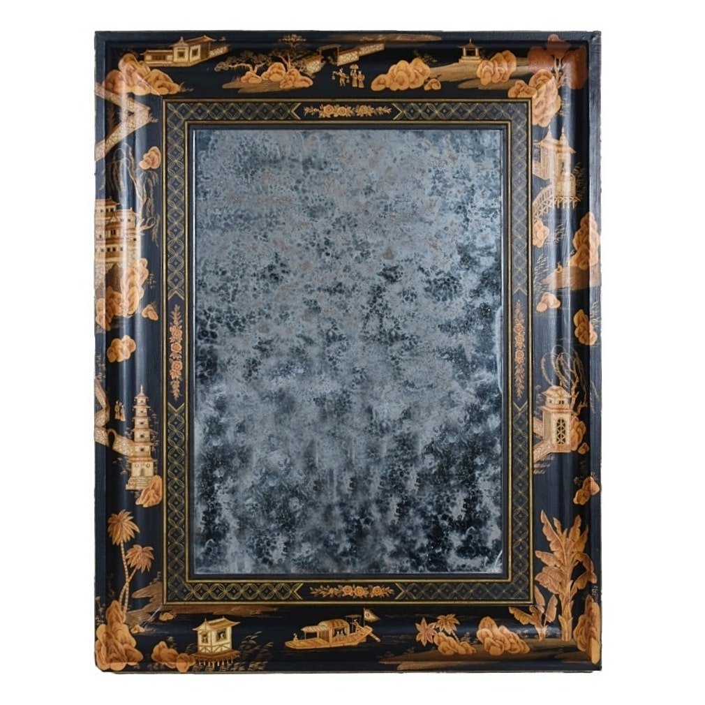 Contemporary Chinoiserie Wall Mirror