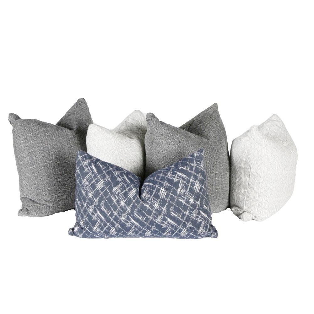 Five Jonathan Louis International Toss Pillows with Down Inserts