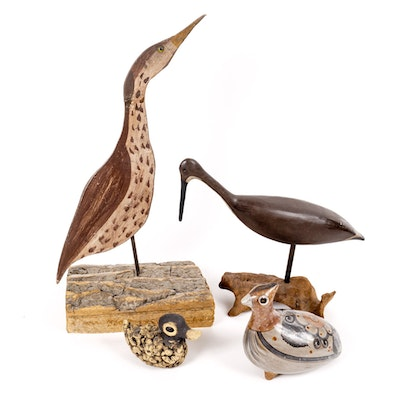 Collection Of Handcrafted Bird Decor
