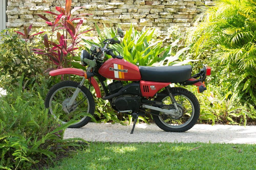 Kawasaki Km 100 Red Motorcycle   Ebth